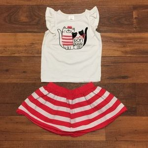 Gymboree Matching Sets - Gymboree Girl Cute Outfit Top And Skirt Size 2T